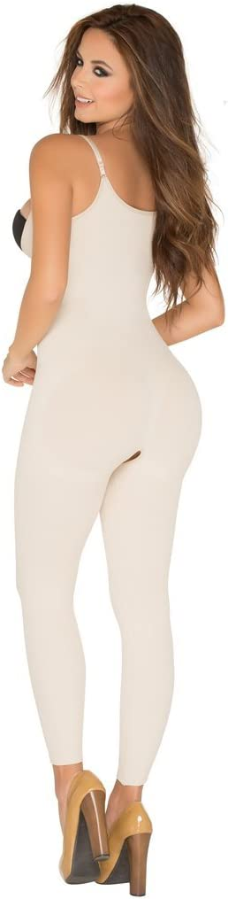 Nylon Body Shaper Braless Adjustables Straps Capri Black Shapewear Lycra