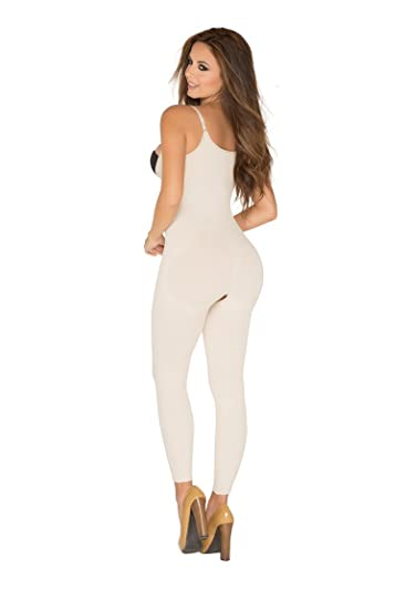 292f86fb0d9f0 Image Unavailable. Image not available for. Color  Corset Mujer Lycra Nylon  Braless Adjustables Straps Capri Type Faja Colombiana