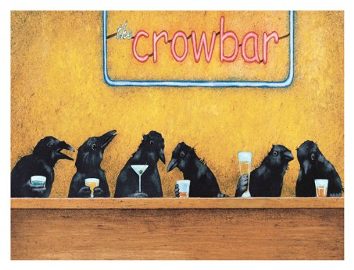 - Crow Bar by Will Bullas Print Poster 16x12