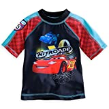 Disney Store Cars Lightning Mcqueen Little Boy Swim Shirt Rash Guard 5/6