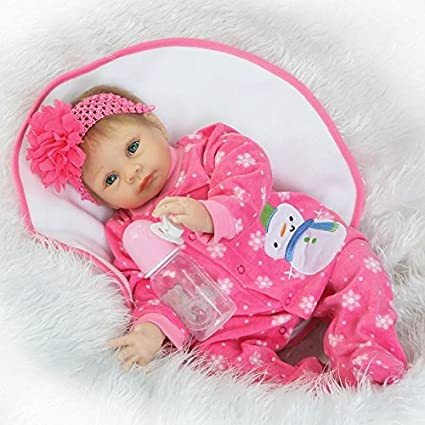83f3782da6ef Image Unavailable. Image not available for. Color  NPKDOLL Reborn Baby Doll  Soft Simulation Silicone Vinyl 22inch 55cm Lifelike Vivid Toy Boy Girl  RD55C195
