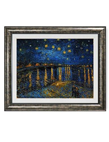 Starry Night Framed - DECORARTS Starry Night Over The Rhone, Vincent Van Gogh Art Reproduction. Giclee Print& Framed Art for Wall Decor. 30x24, Framed size: 36x30