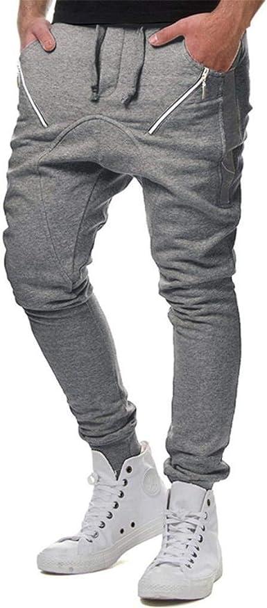 Pantalones para Hombres Beikoard Hombre Puños De Elástico con con ...