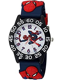 MARVEL Reloj de cuarzo analógico con correa de plástico, color azul, 16 (Modelo: WMA000167)