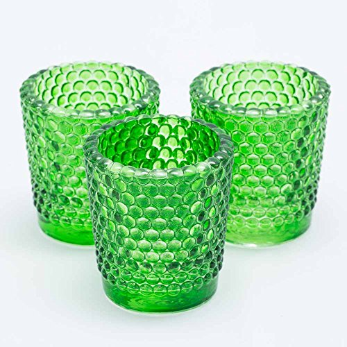 Richland Votive Candle Holders Hobnail Green Set of 72