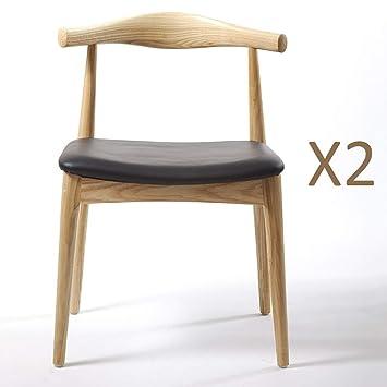 Moderne sedie da cucina in legno Accent sedia da pranzo per ...