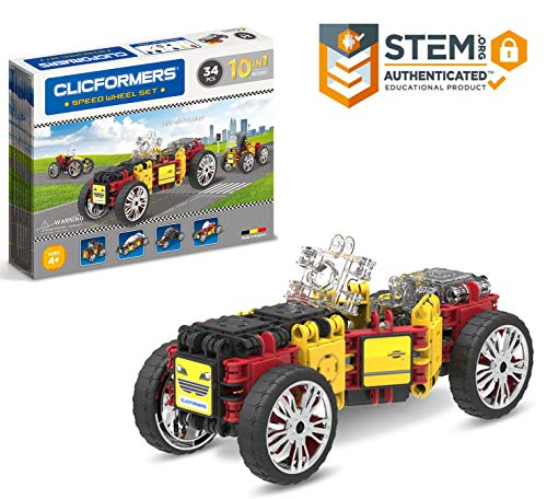 Clicformers Speed Wheel 34Pc, Rainbow Colors, Now $11.05 (Was $29.99)