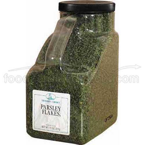 Traders Choice Parsley Flakes - 0.69 lb. container, 1 per case
