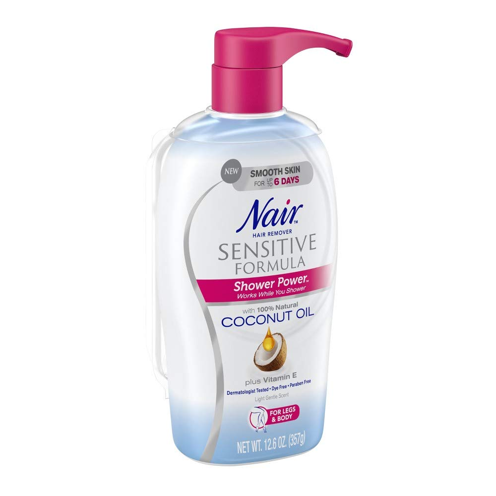 Nair Shower Power Sensitive with Coconut Oil (Pack of 10)