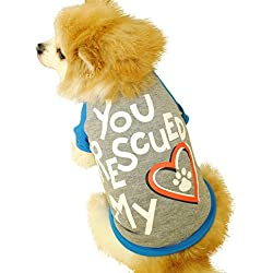 Pet Clothes, Puppy Summer Footprints Vest Small Dog Cat Pet Clothes T Shirt Costumes for Spring and Summer Apparel (S, Gray)