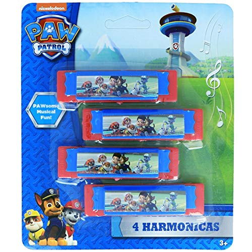 Nickelodeon Paw Patrol Boys Musical Instruments Kids Toy Harmonicas – Red