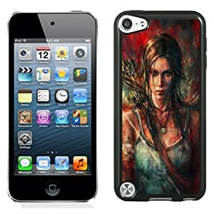 Beautiful Custom Designed Cover Case For iPod Touch 5th With Lara Croft Tomb Raider Fan Art Phone Case