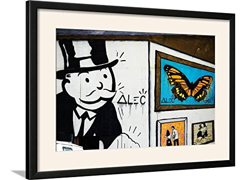 ArtEdge Street Art-Alec-Manhattan-New York-United States Print, 31 x 23, Black Frame-White Mat (Alec Acrylic Black)