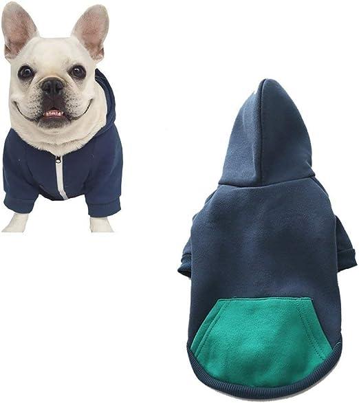 Oferta amazon: meioro Sudaderas con Capucha de Perro Ropa Abrigada para Perros Ropa Deportiva para Mascotas de algodón Puro más Terciopelo Dog Hoodie (XL, Azul)