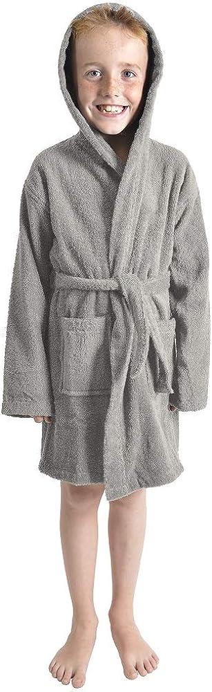 Weich Warm Hausmantel Morgenmantel M/ädchen Baumwolle Frottee Material CityComfort Bademantel Kinder Geschenke f/ür Kinder