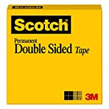 Scotch Permanent Double Sided Tape, 12 mm x 22.9 m, 1 Roll, (665-C)