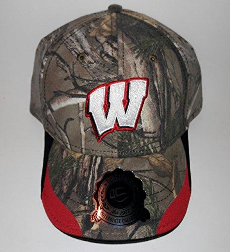 University Of Wisconsin Badgers Adjustable Buckle Hat 3D Embroidered Cap ()