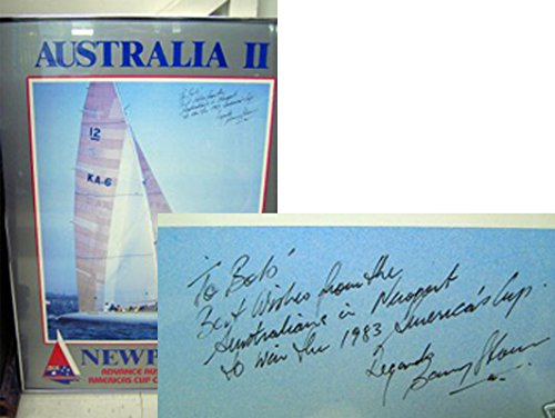 Australia II: America's Cup 1983 Framed Poster [signed, inscribed]