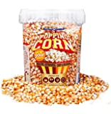 Popping Corn - USA Popcorn Kernels - 850g - 1ltr Tub - Nut & Gluten Free - Microwavable
