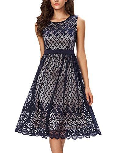 Knee Length Lace Wedding Dress - 6