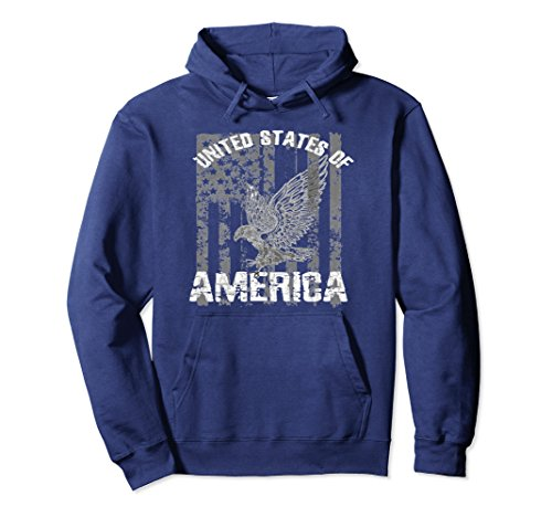 Unisex Patriotic USA Eagle Vintage Citizenship Hoodie America Flag Small Navy (Sweater Cotton American Eagle)