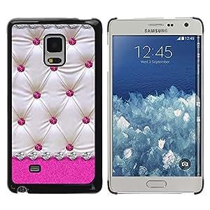 Exotic-Star ( Pink White Lattice Diamond Pattern ) Fundas Cover Cubre Hard Case Cover para Samsung Galaxy Mega 5.8 / i9150 / i9152