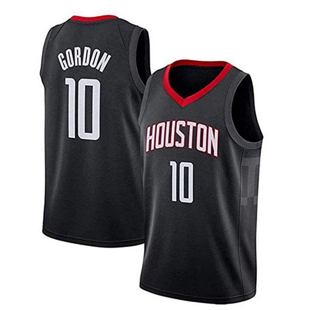 noir S Eric Gordon   10 Basketball Masculin Jersey - NBA Houston Rockets Swinghomme Jersey Manches T-Shirt
