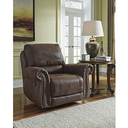 Faux Espresso Leather (Flash Furniture Benchcraft Breville Rocker Recliner in Espresso Faux Leather)
