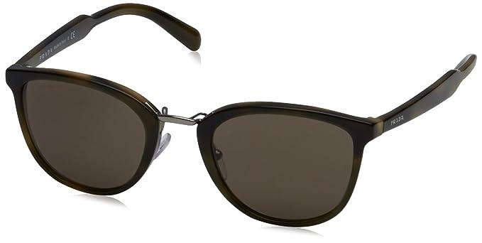 df914b433cfa ... discount prada mens pr 22ss sunglasses striped green brown 52mm 067ce  2a7f4