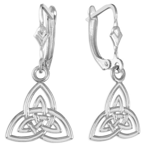 925 Sterling Silver Trinity - Claddagh Earrings Sterling Silver