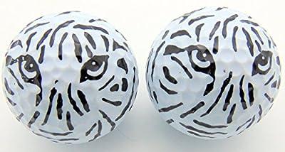 White Tiger Stripes Novelty Golf Ball Fun Golfing Gag Gift for Golfer