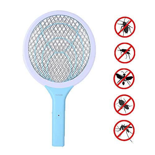 Raqueta Matamoscas Eléctrico Zapper Mosquito, Plagas Insectos Asesino Repelente para Interior en Aire Libre