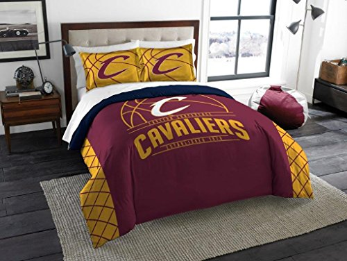 Cleveland Cavaliers - 3 Piece FULL / QUEEN SIZE Printed Comforter & Shams - Entire Set Includes: 1 Full / Queen Comforter (86