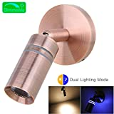 acegoo 12V RV Boat Reading Light Bedside LED Lamp Dimmable Touch Switch Machined Aluminum Brushed Copper