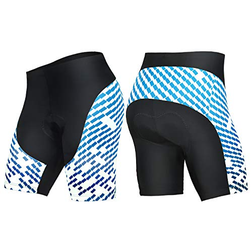 (4ucycling Men's Cycling Shorts 3D Gel Padded Bicycle Riding Pants Bike Biking Clothes Cycle Wear Tights )