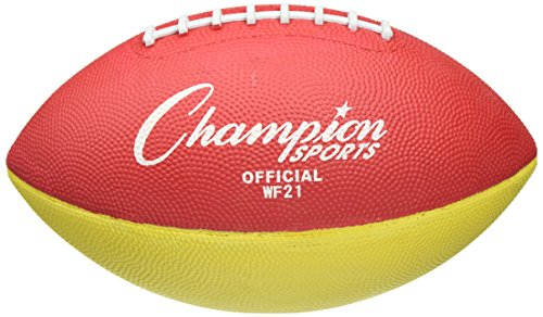 Champion Sports Official Sized Football Trainer, 2-Pound, Red/Yellow by Champion Sports