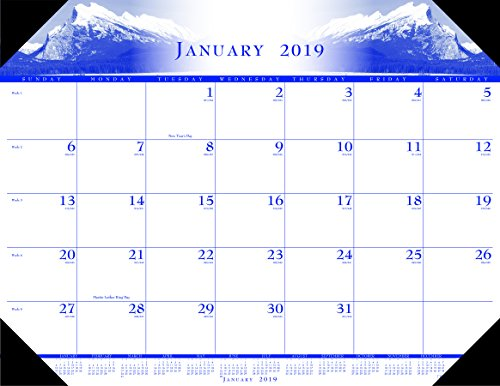 House of Doolittle 2019 Monthly Desk Pad Calendar, Illustrated, 22 x 17 Inches, January - December (HOD140-19)