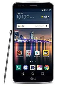 "LG Stylo 3 Unlocked 4g Lte USA Latin Caribbean (Cricket) Gsm 5.7"" HD 16GB 2 Gb Ram 13MP Fingerprint Android Desbloqueado (Titan)"