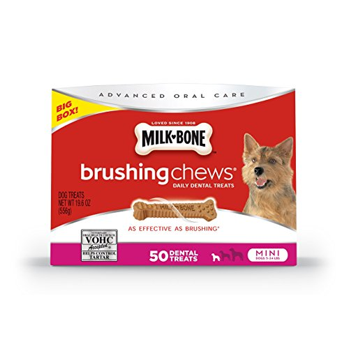Milk-Bone Brushing Chews Daily Dental Dog Treats, Mini/19.6 Oz.