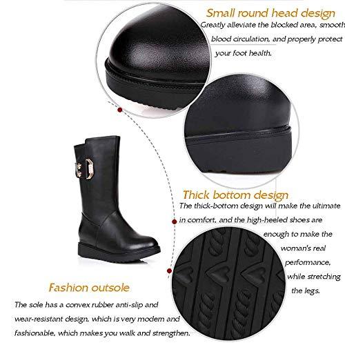 Black Da Calda Di Fodera Donna Invernale In Martin Alta Moda Comode Qualità Pelle Basse Stivali Scarpe Lana qaKXdz4wX