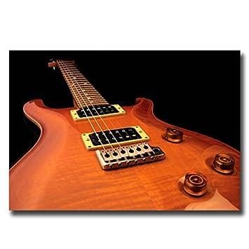 boxprints Guitarra Eléctrica Cartel de Arte Música Negro Blanco Foto de Impresión enmarcada Pequeño Grande: Amazon.es: Hogar
