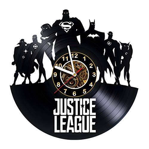 Justice League - Vinyl Record Wall Clock Room wall decor - Poster - Ornament - Decorations - Sticker - Gift for friends, teens, children, men and women, boys and girls - Gift for him - Gift for her]()