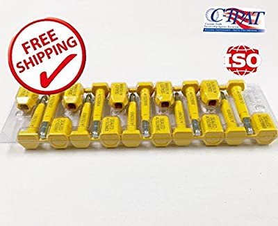 10 BOLT SEALS High Security Seal Guarantee. Suitable for Containers - Container - Trailers – Wagons – Railroad Cars – Cargo - Print Progressive Numbering – ISO and C-TPAT CERTIFIED