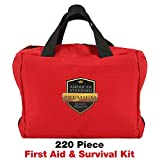 First Aid Kit American Standard Medical Emergency Kit Compact, Complete & Portable, OSHA & FDA Approved Preparedness Bag for Home, Travel, RV, Camping, Hiking, Car - Trauma Survival Care Pouch