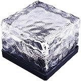 アイスキューブ型ソーラーLEDライト 暗くなると自動点灯 7色変化 ソーラー充電式 防水仕様 屋外装飾やインテリアに FMTSICELED01