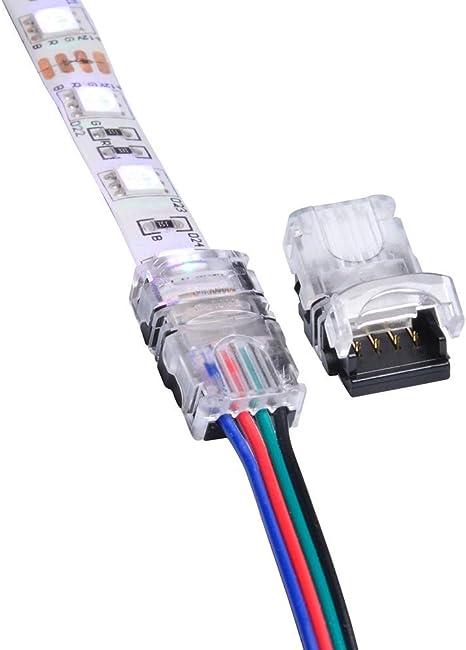 PiniceCore 5pcs 5050 10mm L Forma del Conector RGB LED Franja Conectores de 90 Grados de Esquina 4-Pin