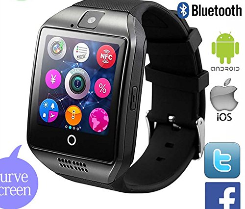 Smart Watch Bluetooth Smartwatch with Camera TouchScreen SIM Card Slot, Waterproof Phones Smart Wrist Watch Sports Fitness Tracker Compatible with iPhone Android Samsung Huawei Sony for Kids Men Women