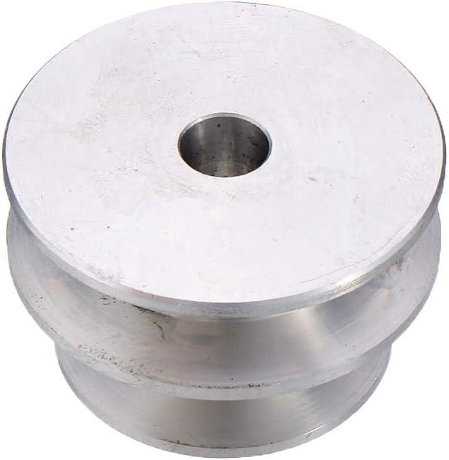 Width : 8mm NO LOGO KF-Wheels Aluminum Alloy 40 /& 50mmDouble Groove Pulley 8-20mm Feste Bohrung V-Form Riemenscheibe for 10mm Rundriemen