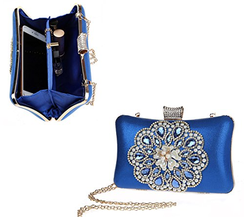 Shoulder Handbag Bridal Blue Ladies Clutch Evening Bag Party Purse Bag Small AnKoee wzZ8qYxBn