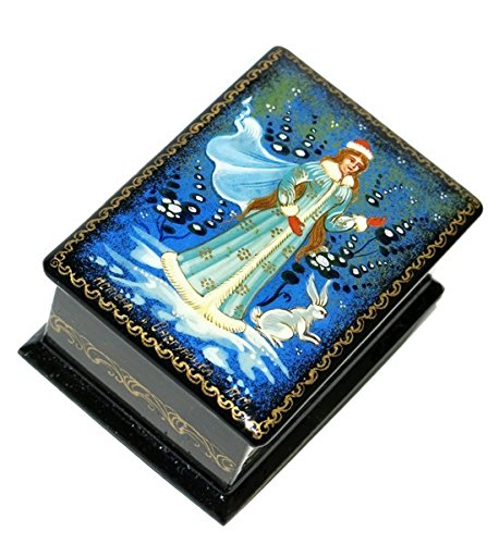 Russian Lacquer Miniatures (Snow Maiden Snegurochka Forest Animals Mstera Russian Miniature Lacquer Box)